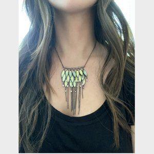 Free People Iridescent Fringe Necklace